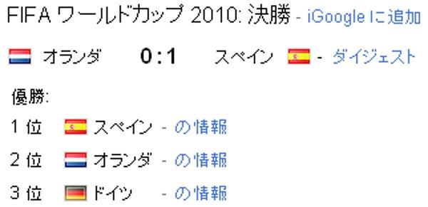 スペイン、2010 FIFAワールドカップ 南アフリカを制覇!