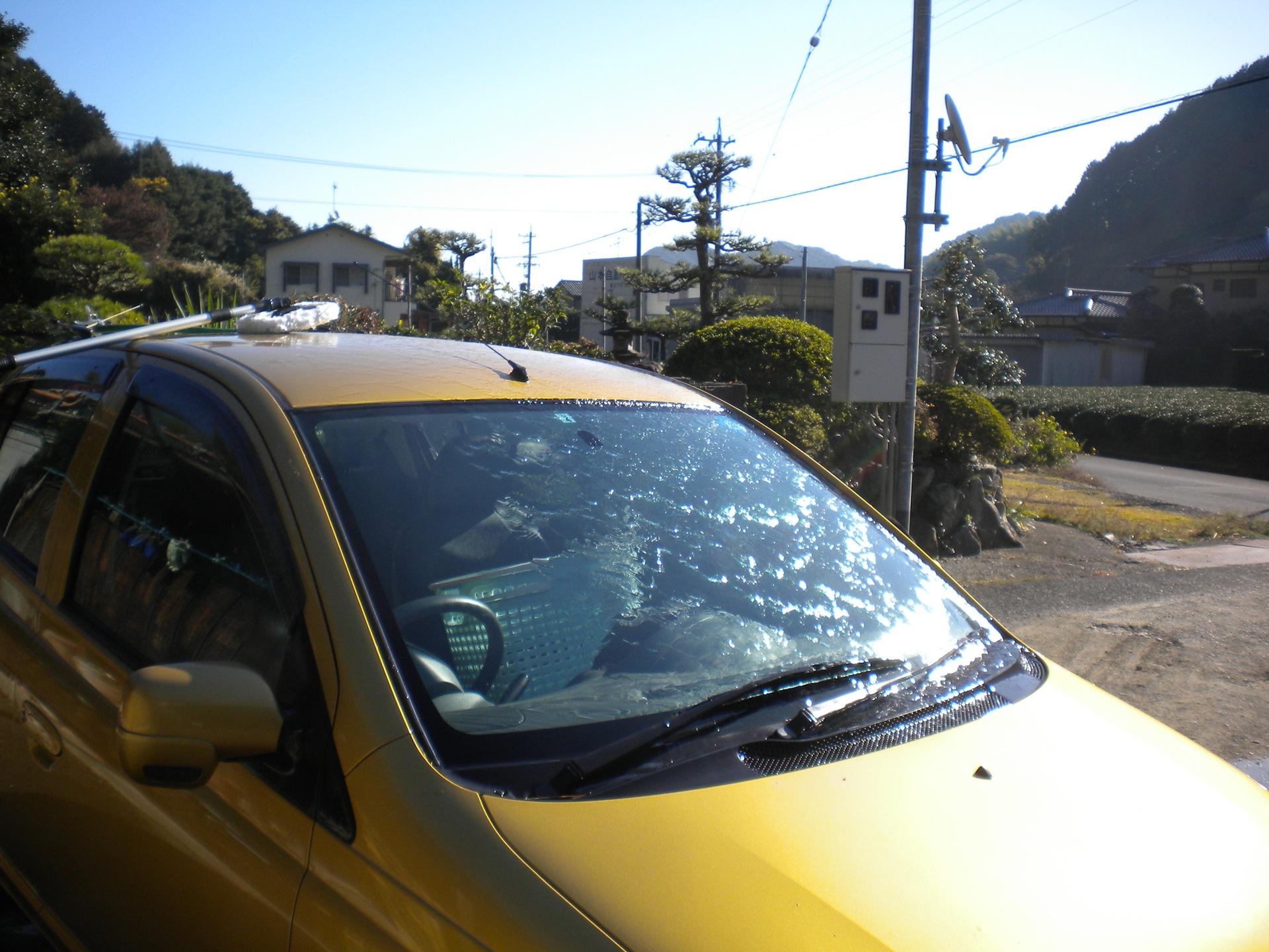 金魚の水槽水替えと車の洗車!