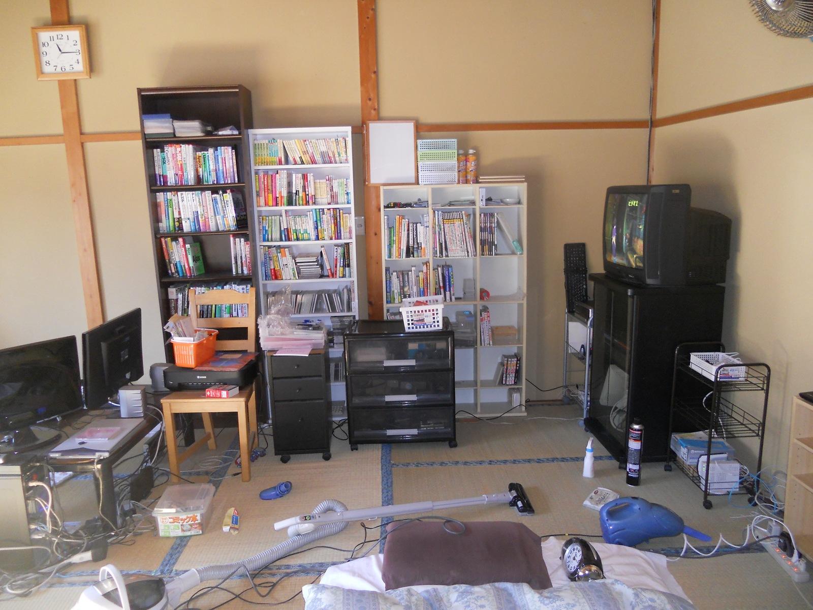2011年の年末大掃除[5] – 部屋の大掃除2日目