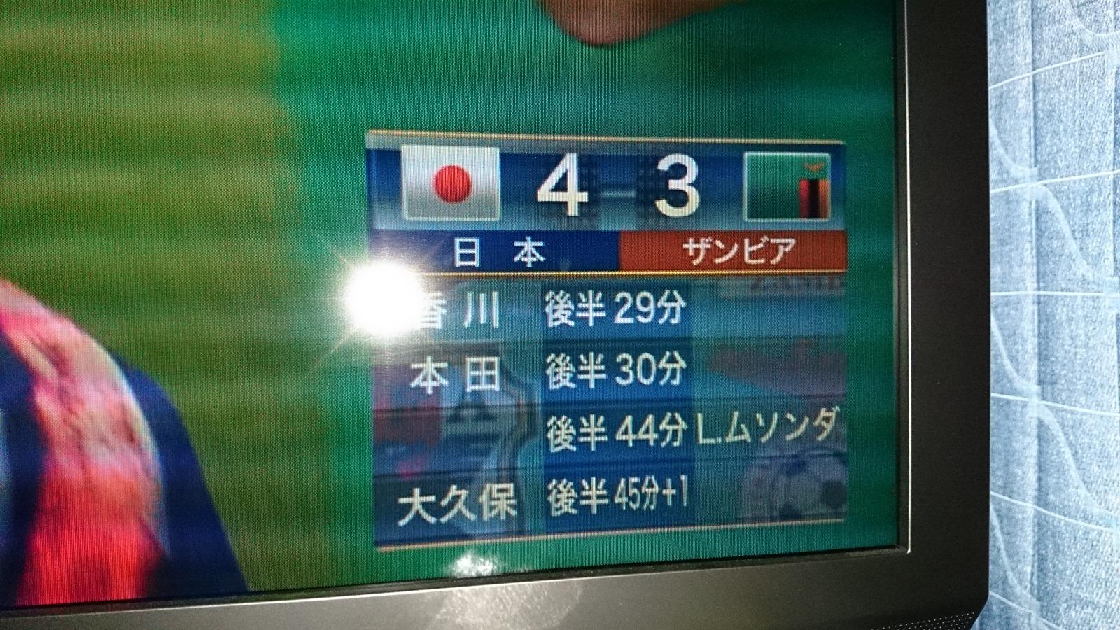 ワールドカップ直前試合を競り勝つ!