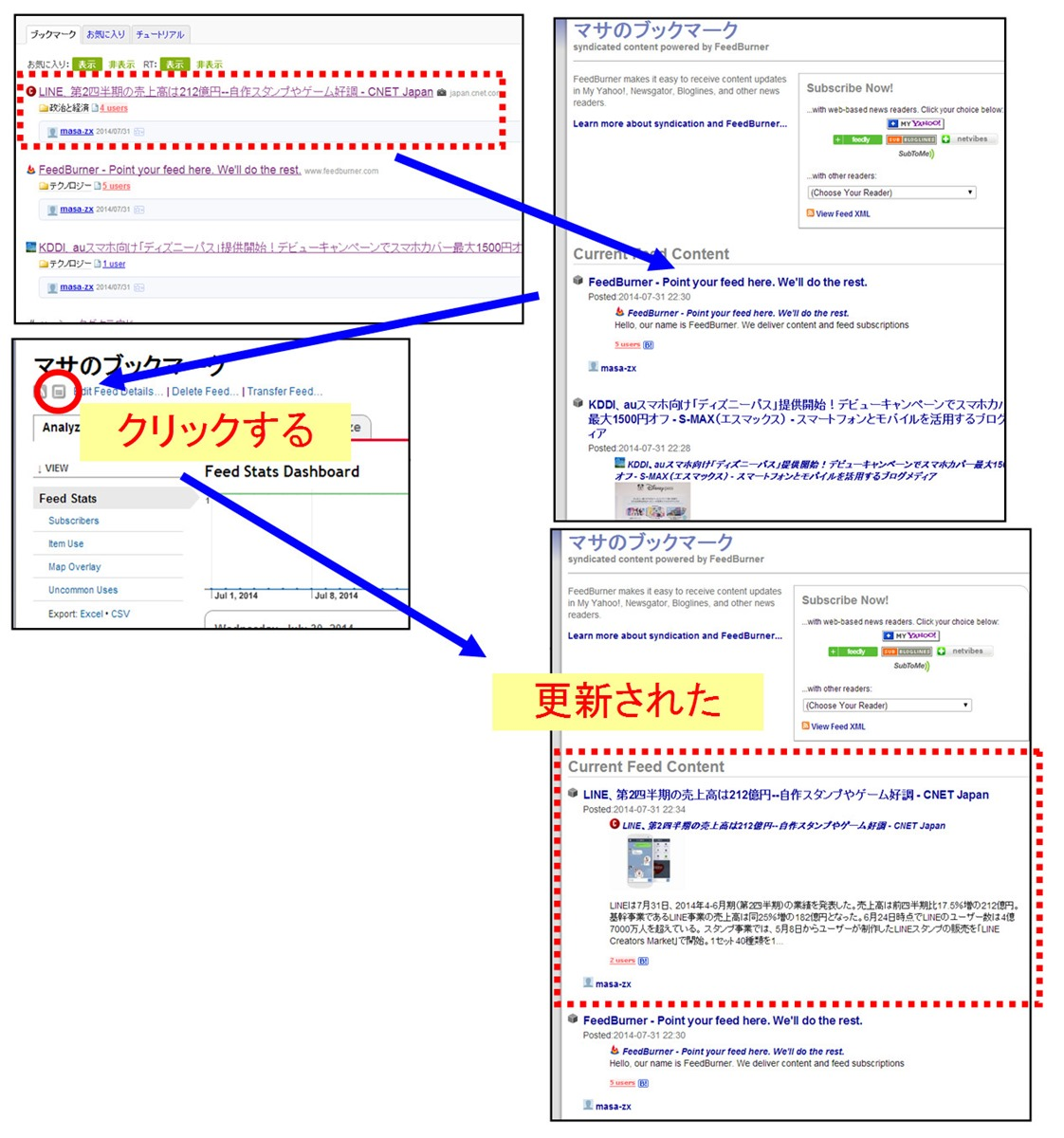 「FeedBurner」を手動で更新する方法